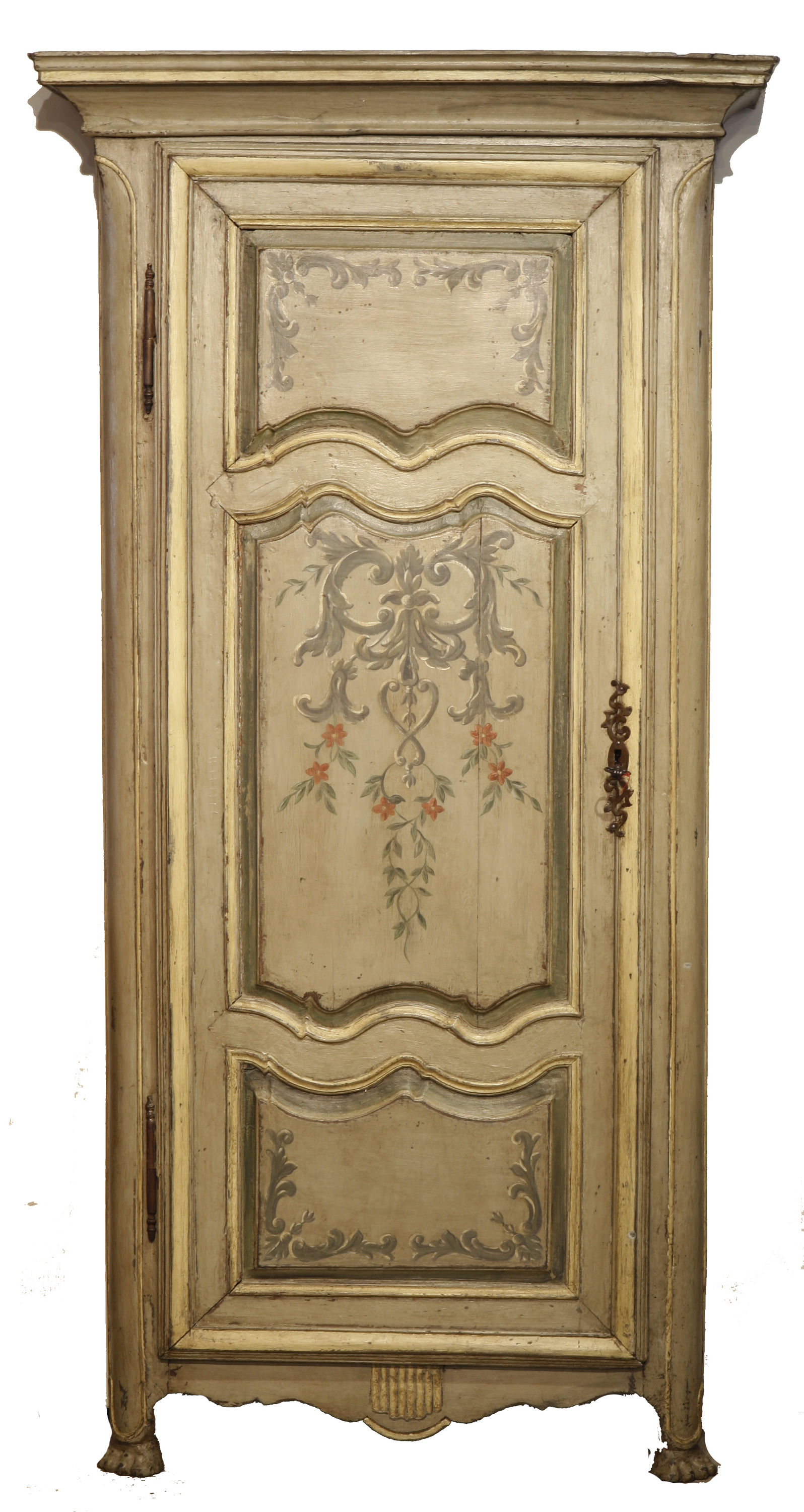18th century antique french painted armoire wardrobe. Black Bedroom Furniture Sets. Home Design Ideas