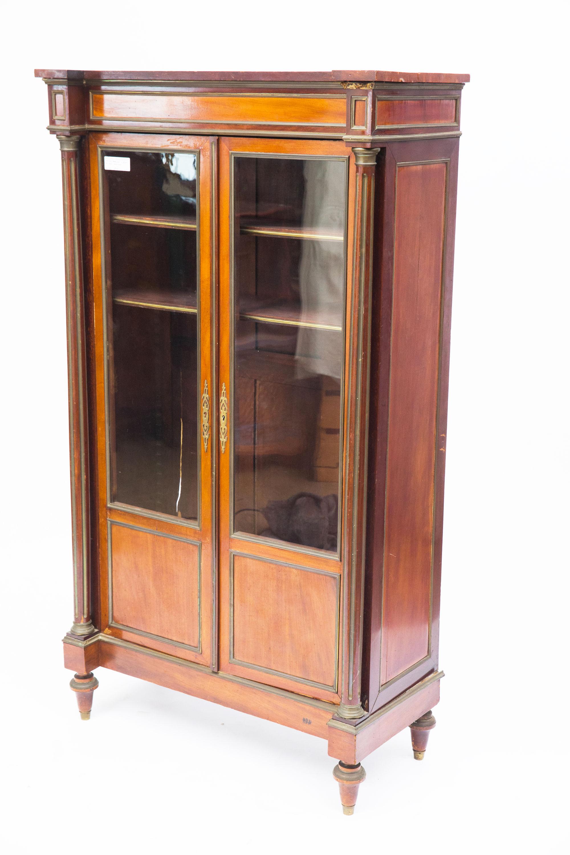 2 Door Bookcase 19th Century French Mahogany Bookcase