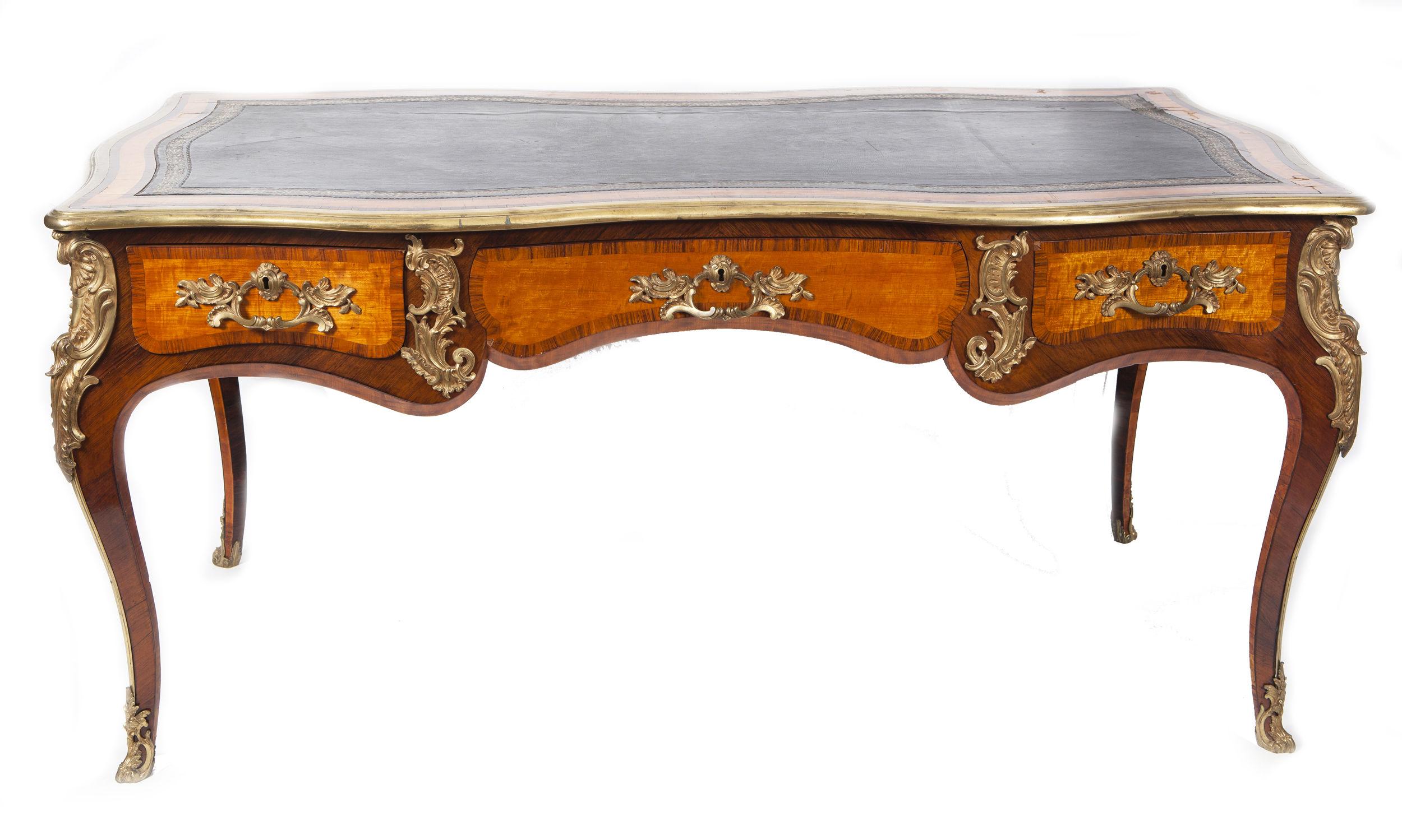 Antique bureau plat 19th century english for Bureau in english