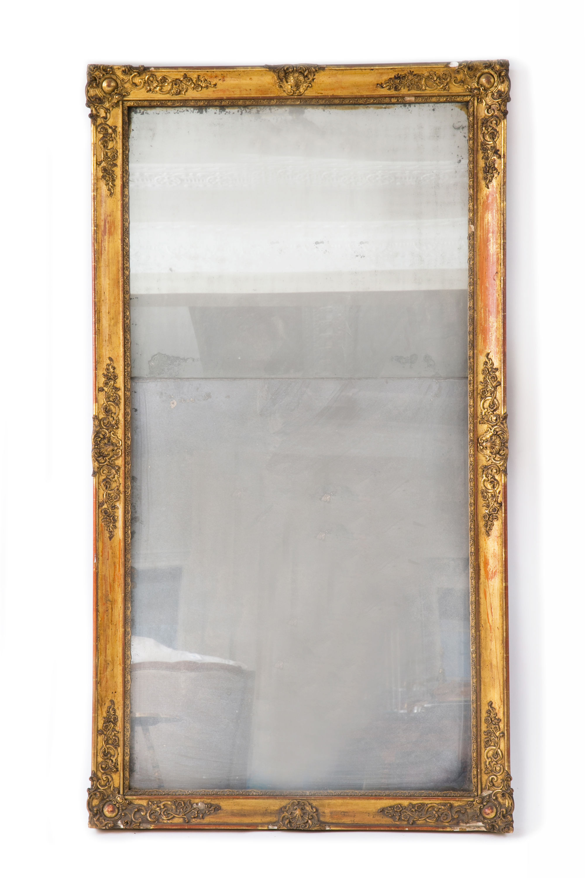 French Gilded Antique Mirror 19th Century French Gilded