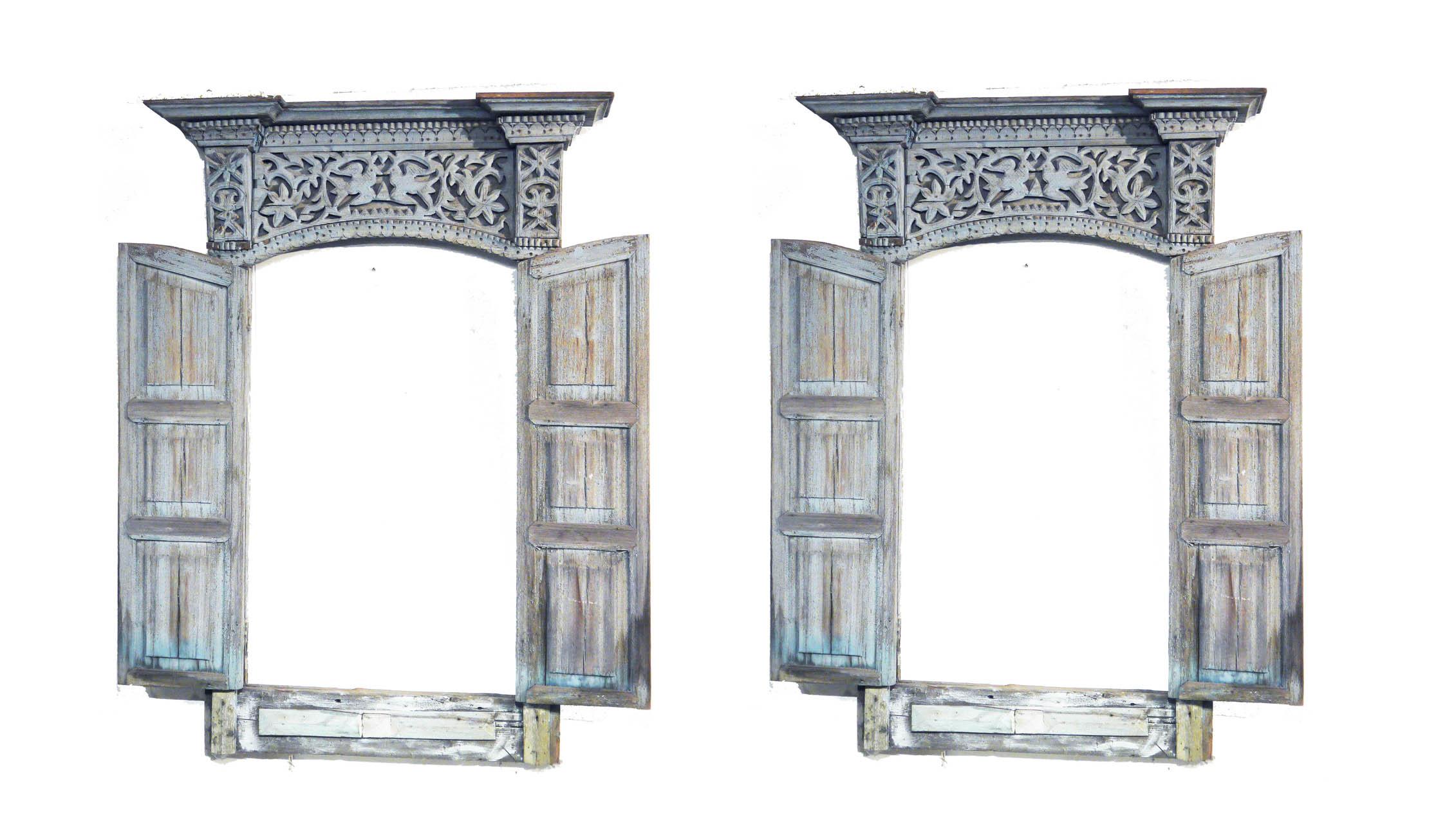 pair architectural windows