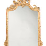 pierced french gilded mirror
