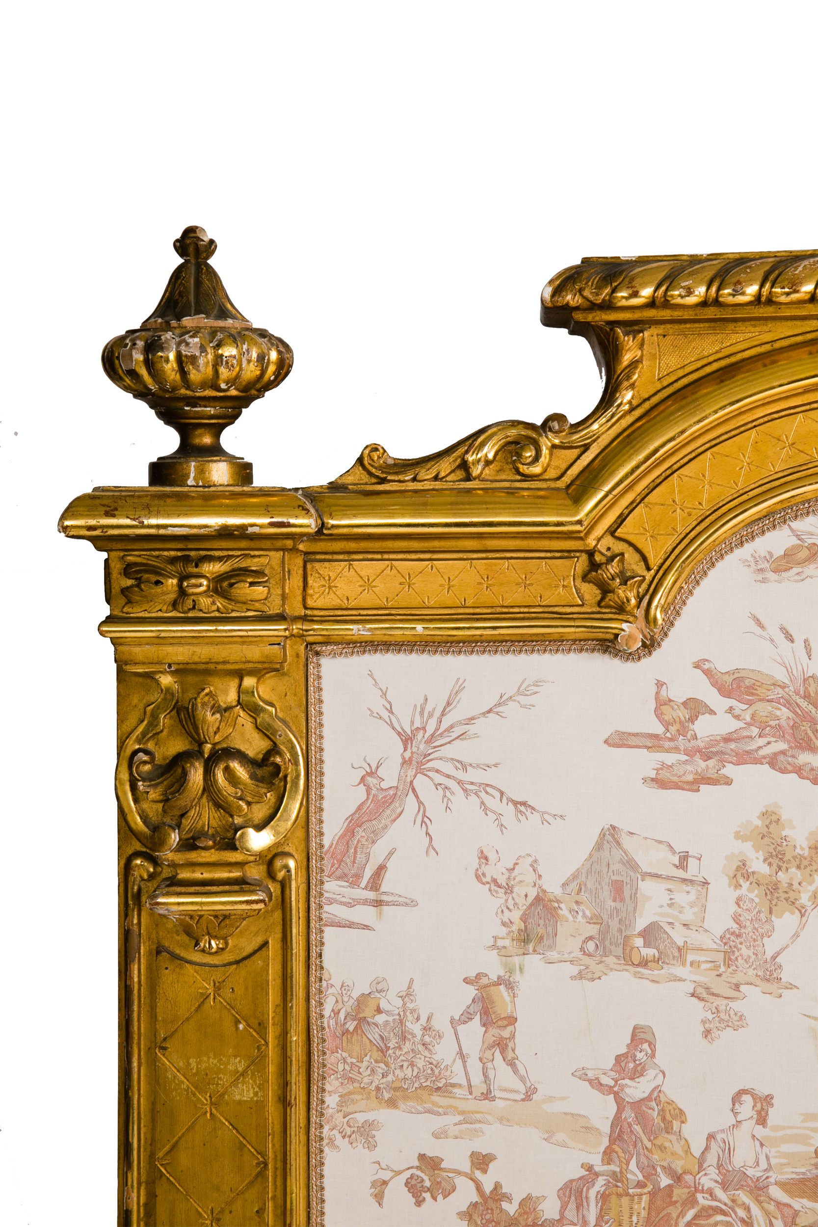 antique king bed gilded french