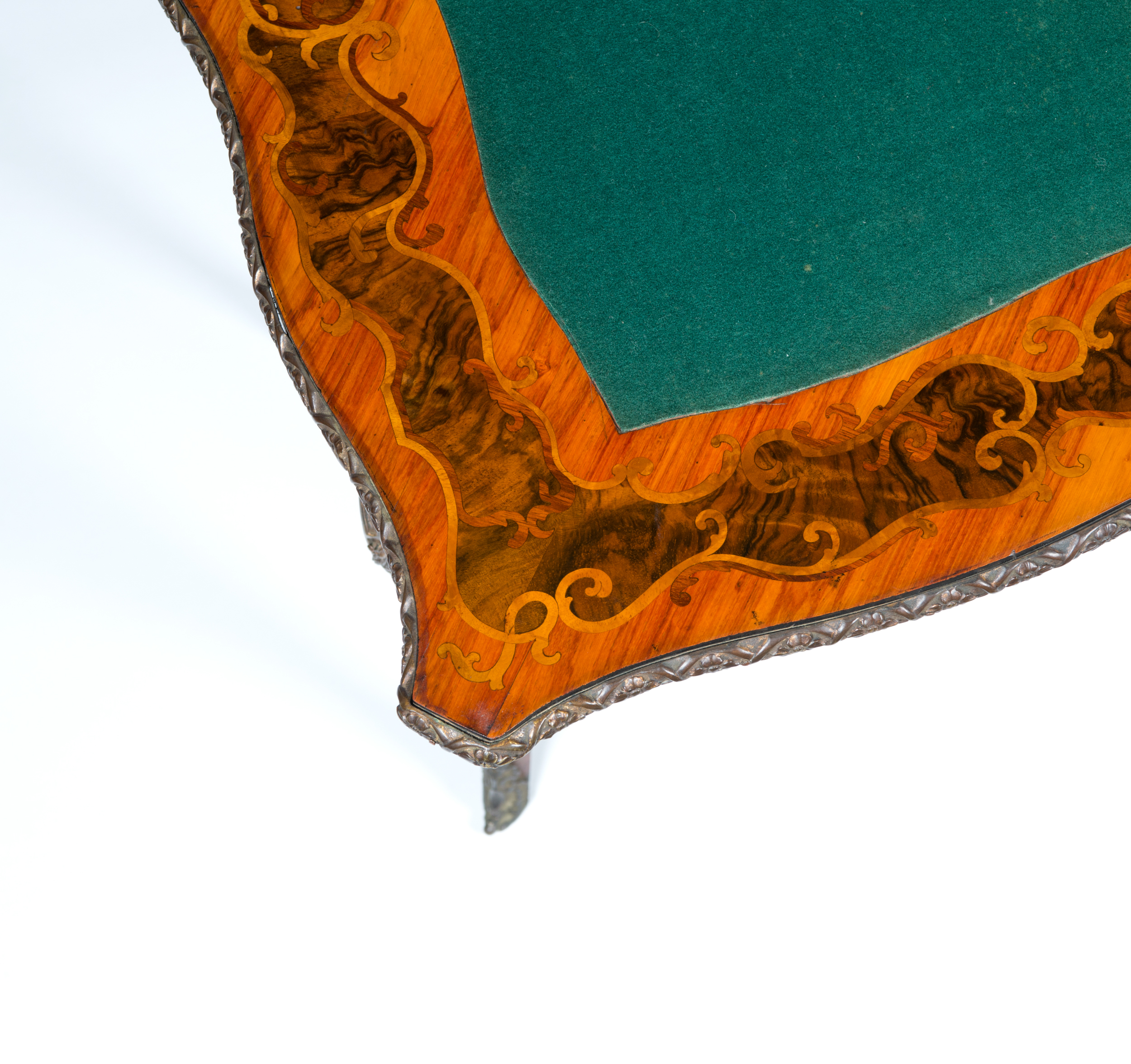 marquetry card table