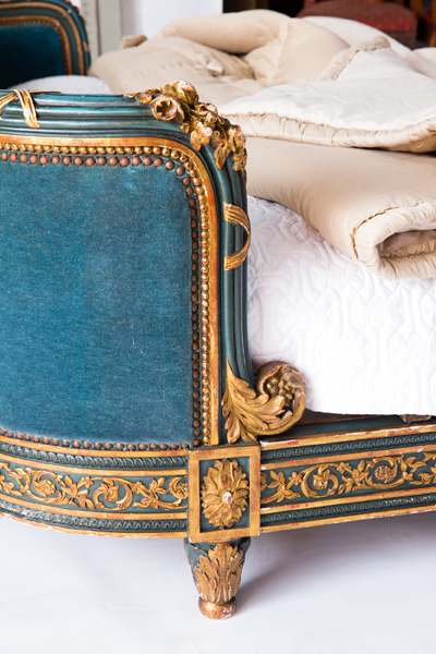 antique bed french louis