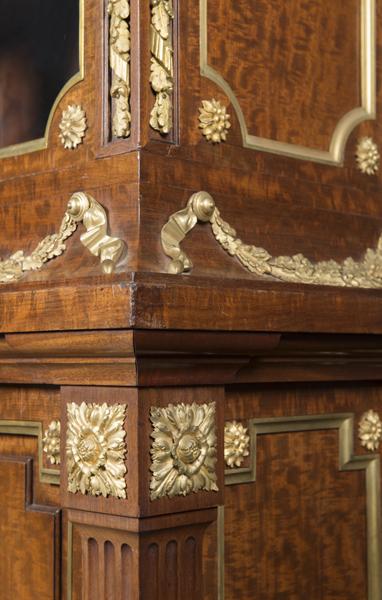 antique bookcase louis xvi