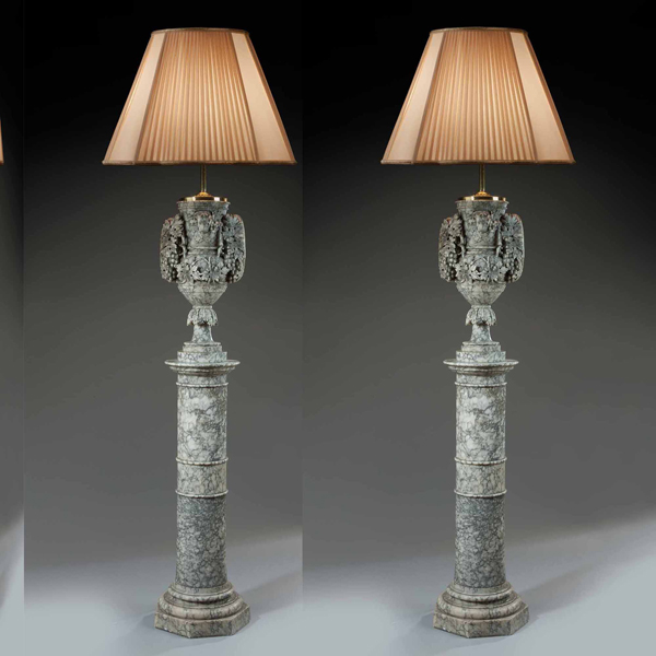 antique floor lamp french alabaster