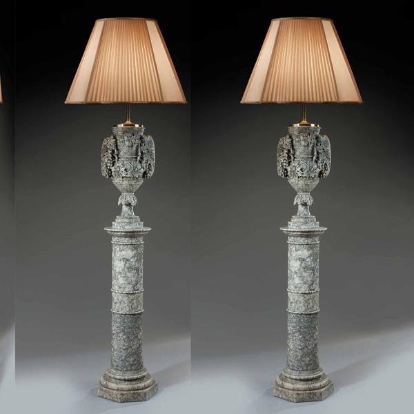 antique floor lamp french alabaster
