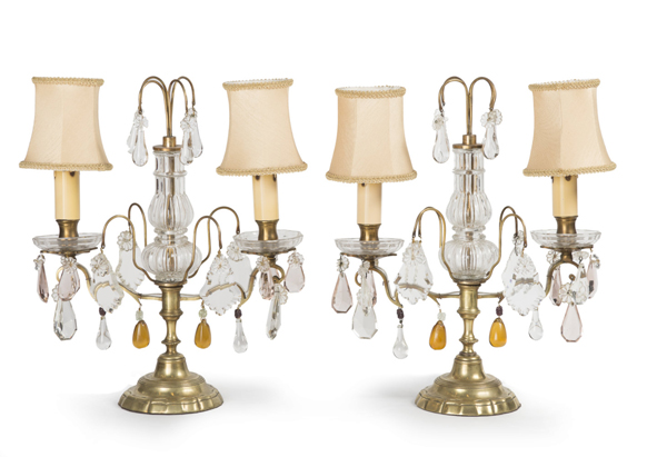 antique table chandeliers